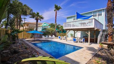 Photo for Steps to the beach, Backyard Oasis 3br/4ba Family Friendly, Private Heated Pool