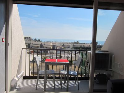 Photo for Renovated apartment renovated naturist village Cap d'Agde, beautiful sea view