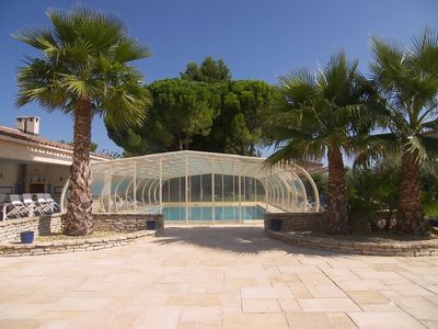 Photo for Holiday Rentals with Heated Pool and Covered 12 x 7 meters