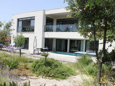 Photo for Villa SETE, 1st line sea, 50 meters from the beach, swimming pool, 8 people