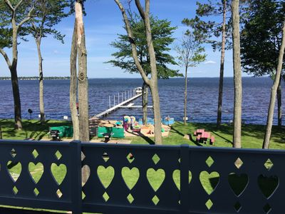 Photo for Cute, clean Houghton lakefront cottage, sleeps 4-6