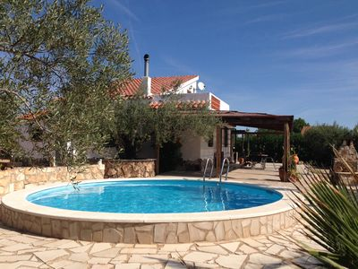 Photo for Detached house with sea view large terrace and private pool air conditioning wifi