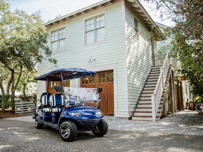 Photo for WaterColor's Camp District! Multiple Sprawling Porches! 6 Seater Golf Cart!