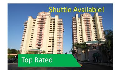 Photo for NEAR Disney, OUTSTANDING Views,  TWO Private Balconies! Shuttle Available