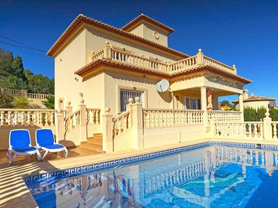 Photo for Magnificent villa with stunning views to the sea and mountains