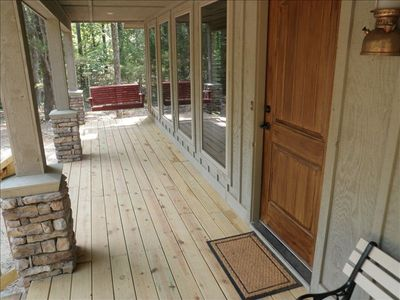 FRONT PORCH WITH SWING FOR MORNING COFFEE