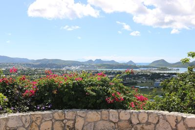 The view from our pool looking towards St. Johns Harbor.