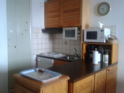 Photo for Studio with cabin, terrace with stunning mountain views, 4 people