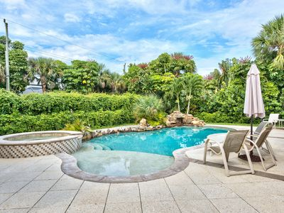 Photo for Beach Home with Bigger size Resort Style Pool & Hot Tub; Walk to the Vanderbilt Beach!