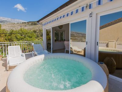 Photo for JACUZZI-POOL APARTMENT 20 MINUTES FROM SPLIT