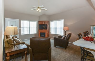Cathedral Ceilings, Fireplace, Sofa Sleeper, Large Living Room!