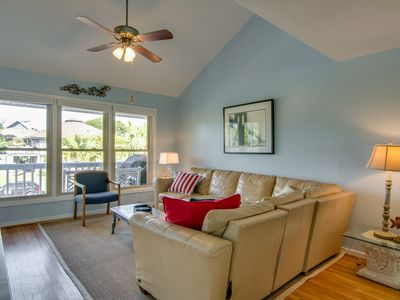 Photo for Spacious seaside home w/ community pool access- walk to beach, shops & dining!