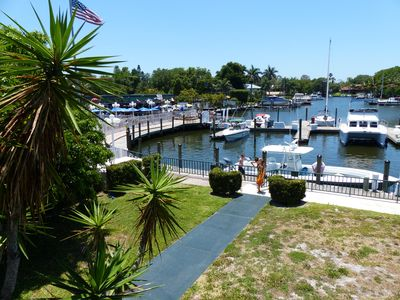 Photo for WATERFRONT STUDIO UNIT 107 at the Ramada Inn Sara Bay Marina  7150 N Tamiami Tr