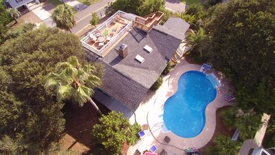 Photo for BEACH IS OPEN!!~ TROPICAL POOL WITH ROOFTOP DECK!! AMAZING VIEWS! Pets Welcome!