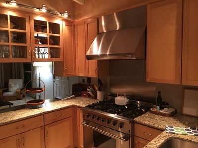 kitchen with NXR Range and Hood and everything needed