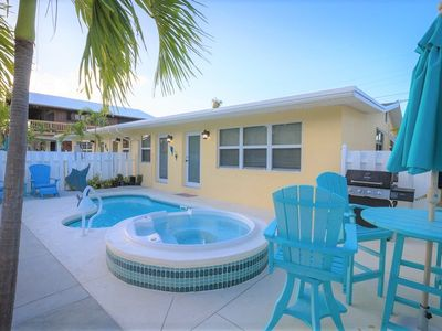 P11 - Charming 2 bedroom 2 bath duplex with private pool and dock - Completely updated.