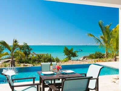 Enjoy paradisiacal views from the comfort of your private pool.