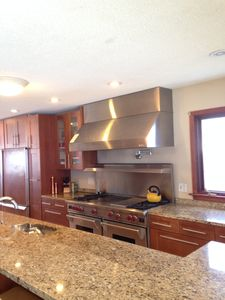 A True Chef's kitchen, with granite everywhere and high end appliances.