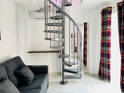 Photo for Central 1-Bed Penthouse Calle Capitan Sleep 5/Rooftop Terrace/Wi-Fi