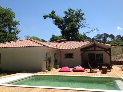 Photo for Brand new house on Golf, heated pool - wooded garden