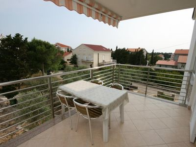 Photo for One bedroom apartment with terrace Novalja, Pag (A-6398-f)