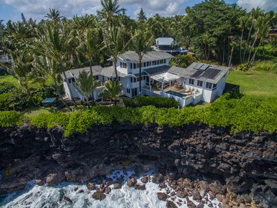 Photo for Ocean Cliff Villa overlooking Black Sand Beach w/Pool, Hot Tub & Gym!