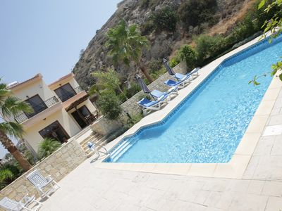 Photo for Three  bedroom villa, private big pool, garden . Just 200 metres from the beach