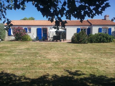 Photo for Beautiful sea front property (100m) on closed ground of 2800m2