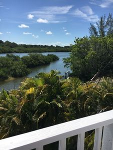 Photo for Charming Palm Island Cottage/Private Pool (in July 2019)/Long Deep water Dock