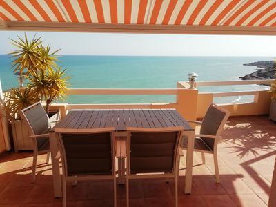 Photo for SUPERB APARTMENT 110 m2 without opposite wifi clim tv pool spectacular sea view