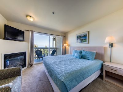 Photo for Dog-friendly suite with ocean views, a balcony & nearby beach access!