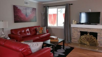 Large HD TVs in Living Room and Entertainment Room, Cable & Wifi