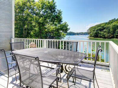Photo for Dog-friendly waterfront home with grand piano and fireplace!