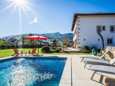 Photo for Authentic Basque Villa, Pool, Mountain View & Fireplace in Ascain