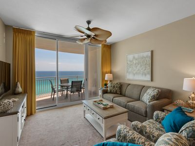 Photo for AQUA 1106 1BR+BunkR+2BA, Free beach chairs, Free WiFi, Beachfront!