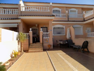 Photo for Two bedroom, Three bathroom townhouse, wifi, aircon and sat tv, communal pool