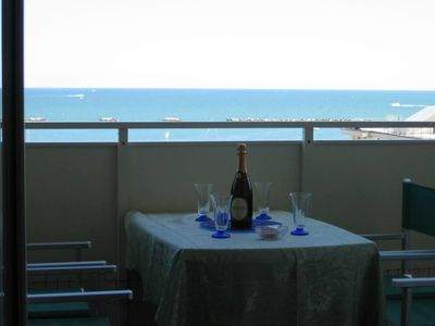 Photo for Panoramic apartment 100 meters from the beach