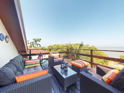 Photo for Caribbean Sea views from every window & private balcony-easy access to the sea