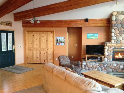 Photo for Beautiful private waterfront on Lake Coeur d`Alene. Beach and dock.
