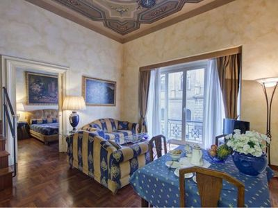 Photo for Vittorio Emanuele apartment in Centro Storico with WiFi, integrated air conditioning, balcony & lif…