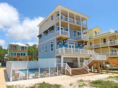Photo for Gulf-front, private pool, elevator, new construction