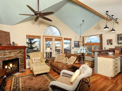 Photo for Beautiful And Spacious Townhome, Shuttles to Ski, on Lake Dillon Path in Quiet Area, Walk To Trails