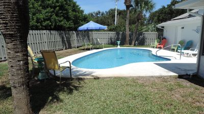 Photo for Peaceful & Spacious Home With Pool! Close to traffic free beach, sunset dining.