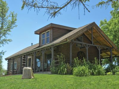 Hilltop Log Cabin Overlooking Rolling Hills And Valleys Of The Driftless Region