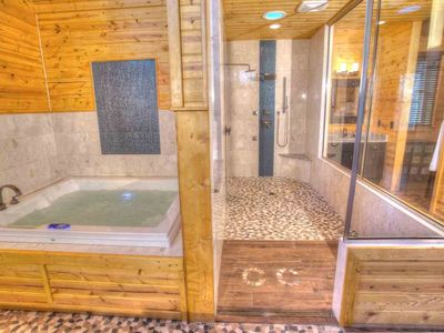 Oasis- Voted Best Luxury Spa Cabin. Sauna, 6 ft Warm Air Jacuzzi Spa, Rain Shower and Body Sprayers