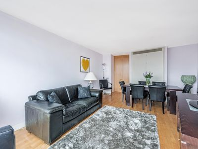 Photo for NEW LISTING! See London from your sofa in this flat on the banks of the Thames