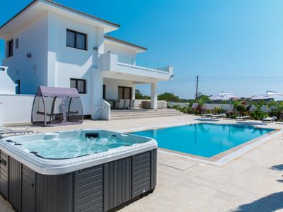 Photo for You Will Love This Luxury Villa with Hot Tub close to the beach in Protaras, Villa Ayia Napa 1102