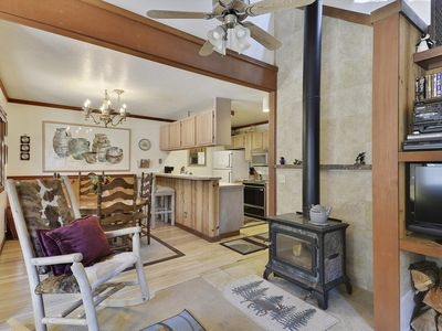 Photo for A Peaceful Squaw Valley Winter Getaway that Accommodates 7 People. Minutes from The Village at Squaw  Valley Shopping and Dining. HOA Amenities Available - Tennis Courts and a Hot Tub!