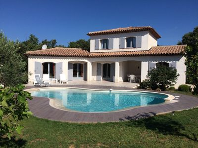 Photo for Luxurious villa located in a private domain, heated pool