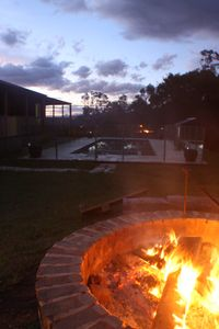 Earth, water & fire- sit under the stars at the fire pit.